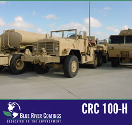 Blue River Coatings CRC100-H is a two-component inorganic corrosion resistant coating designed for Original Equipment Manufacturers (OEM) to protect metal substrates from corrosion and abrasion.