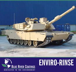 Blue River Coatings ENVIRO-RINSE is a rinse aid designed to accelerate and reduce the time required for complete curing of Enviro-Kote or Enviro-Shield. ENVIRO-RINSE provides customers with a solution for quick turn around required for on-time deliveries or mass production schedules.